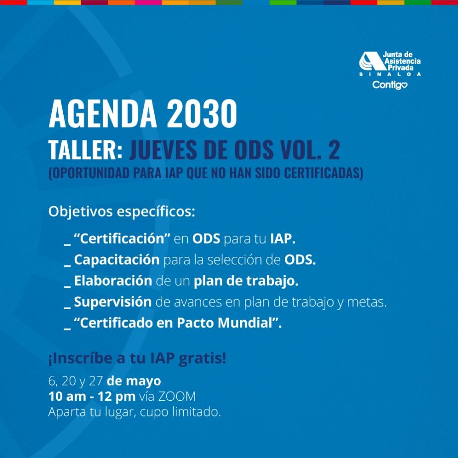 Taller: Jueves de ODS Vol. 2